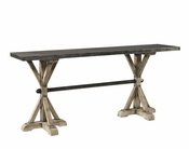 Metal Top Console Table