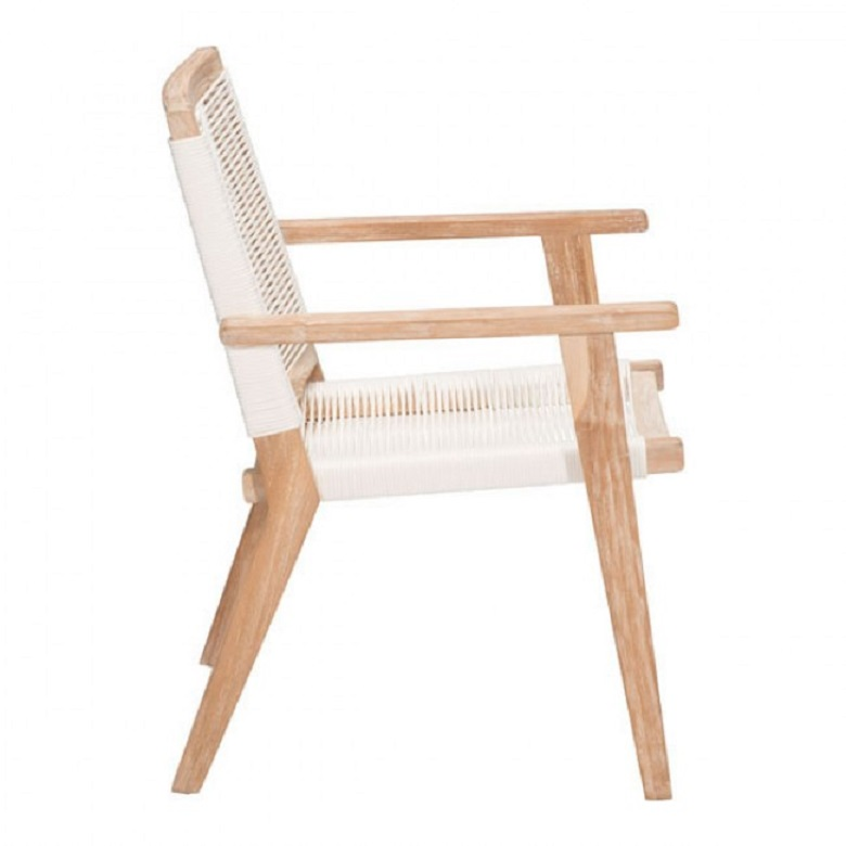 Chair Furniture Emporium outdoor teak dining chairs white wash | british home emporium