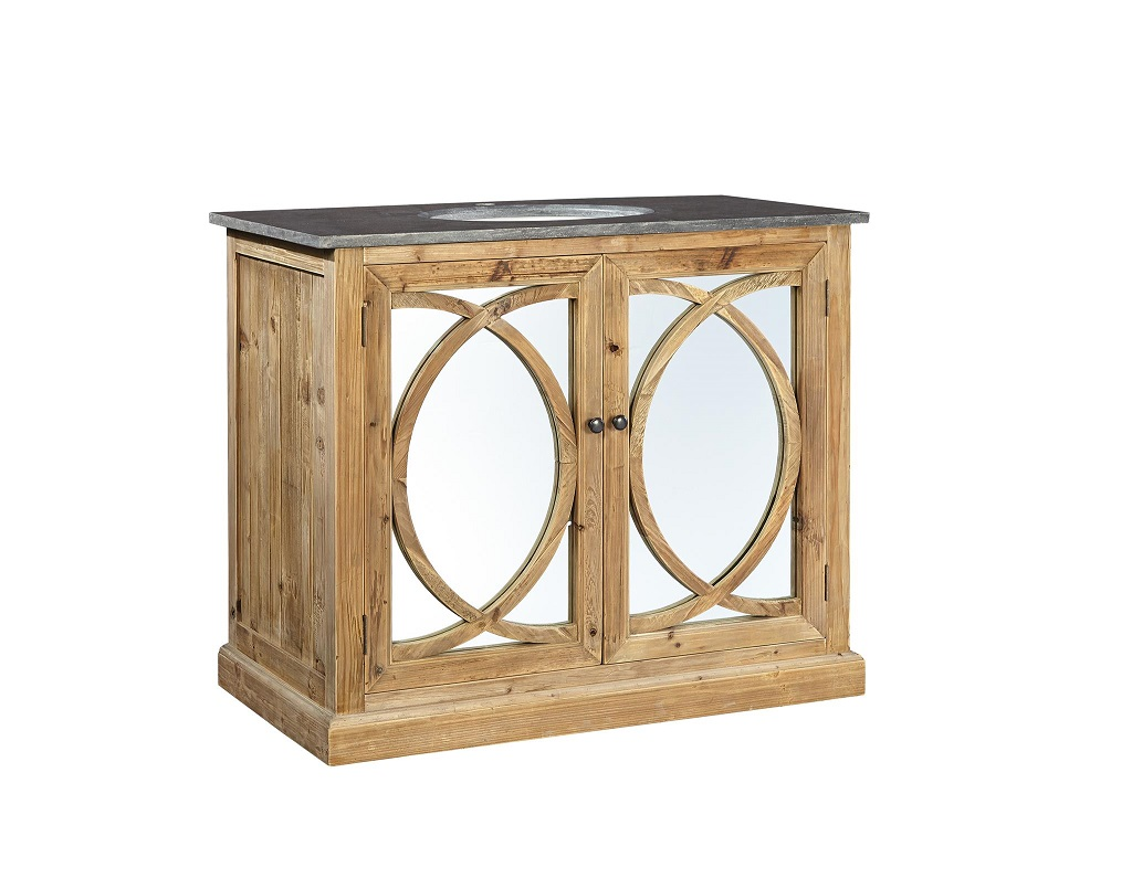 circle bathroom vanity with mirror doors - Mirrored Bathroom Vanity