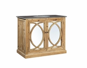 Circle Bathroom Vanity with Mirror Doors - 50% OFF