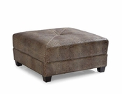 Square Leather Ottoman - QS