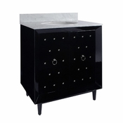 Studded Bath Vanity Lacquer Finish