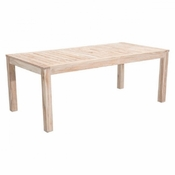Teak Dining Table White Wash - Save 25%