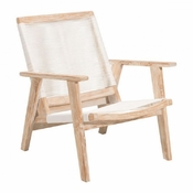 Teak Lounge Chair White Washed - Save 25%