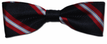 Baby Boys Navy & Red Stripe Bow Tie
