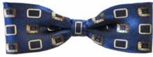 Baby Boys Woven Silk Blue Box Pattern Bow Tie
