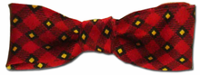 Boys Red & Yellow Plaid Bow Tie