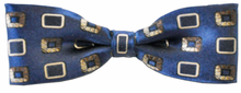 Boys Silk Woven Blue Pattern Bow Tie