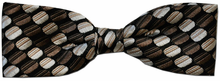 Boys Silk Woven Brown Oval Pattern Bow Tie