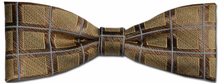 Boys Silk Woven Gold Box Pattern Bow Tie