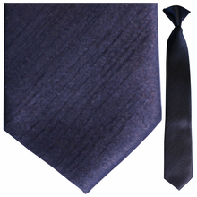 Boys Solid Navy Clip-On Tie
