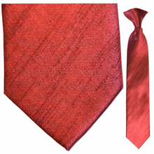 Boys Solid Red Clip-On Tie