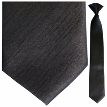 Boys Solid Satin Black Clip-On Tie