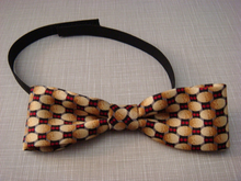 Boys Yellow & Red Pattern Bow Tie