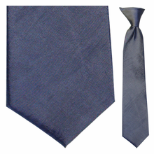Junior Blue Moire Clip-On Tie