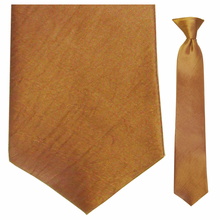 Junior Copper Moire Clip-On Tie