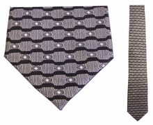 Junior Grey Wave Pattern Silk Tie