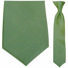 Junior Lime Green Moire Clip-On Tie