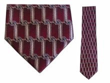Junior Maroon/Gold Link Pattern Silk Tie