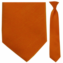 Junior Orange Moire Clip-On Tie