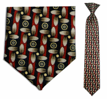 Junior Red Pac Pattern 14 inch Clip On Necktie