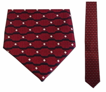 Junior Red Wave Pattern Silk Tie