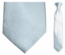 "Junior Solid Light Blue 14"" Clip On Necktie"