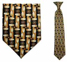 Boys Yellow Pac Pattern Clip On Tie