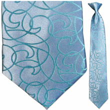 Men's Light Blue Woven Necktie