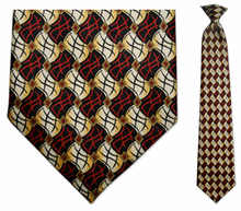 Men's Red/Black Flag Pattern Clip On Necktie