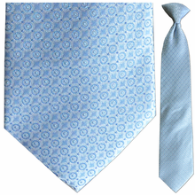 Men's Silk Woven Blue Pattern Tie
