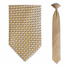 Men's Skinny Silk Yellow Dot Pattern Clip on Tie