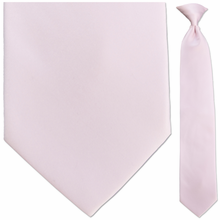 Men's Solid Bridal Pink Clip-On Tie