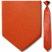 Men's Solid Coral Clip-On Tie