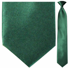 Men's Solid Forest Green Clip On Necktie