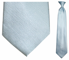 Men's Solid Light Blue Clip On Necktie