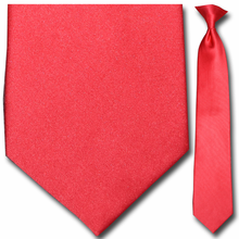 Men's Solid Red 21 inch Clip-On Tie