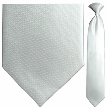 Men's Solid Ivory Jacquard Clip-On Tie