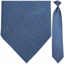 Men's Silk Woven Sparkling Blue Textured Necktie