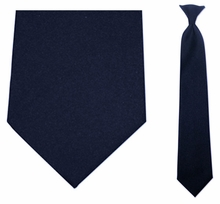 Men's Navy Blue Uniform Clip On Necktie