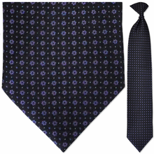 Men's Woven Black & Purple Snowflake Pattern Necktie