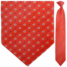 Men's Woven Carmine Pink Snowflake Pattern Clip-On Tie