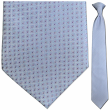 Men's Woven Lavender Snowflake Pattern Clip-On Tie
