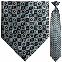Men's Woven Monochrome Pattern Clip-On Tie