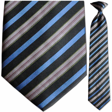 Men's Woven Multi Stripe Clip On Tie