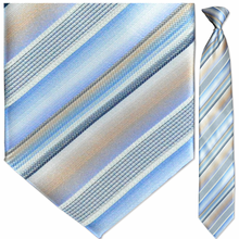 Men's Woven Pastel Striped Clip On Tie
