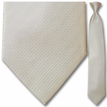 Men's Woven Pearl White Pin Striped Necktie