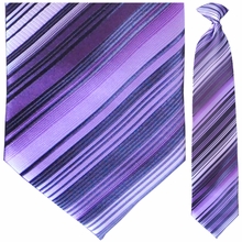 Men's Woven Purple Striped Necktie