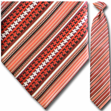 Men's Woven Red Multi Stripe Tie