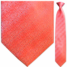 Men's Woven Red w/ Faint Stripes Clip-On Tie